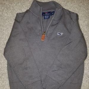 Vineyard Vines Gray Boys Half-Zip Sweater 3T